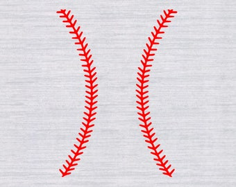 Baseball Stitches SVG Files for Cutting Softball Laces - SVG Files for Silhouette - SVG files for cricut - Instant Download