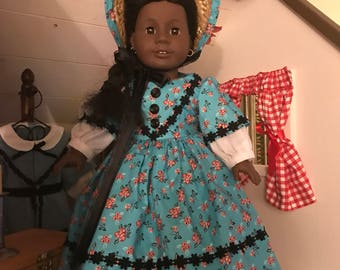 Civil War Era Floral School Dress for American Girl Addy