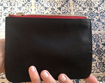Leather coin purse (black)
