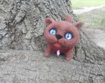 Kitten, British Shorthair - Needle Felted toy