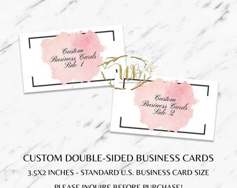 Custom Business Cards - Double-Sided