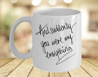 Drunk On Love Just Engaged His And Her Mugs- Valentines 2017 Boyfriend Gift Box Worlds Greatest Gift- Let Love Grow 5 Year Anniversary Mug