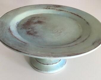Vintage Signed Pedestal Dish