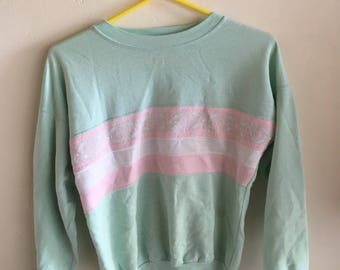 Vintage pastel women's sweater