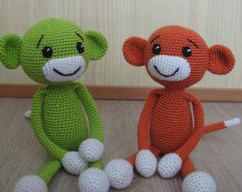 Crochet Monkey, Monkey Toy for kid, babies toy, amigurumi monkey, cute monkey