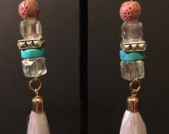 Coral Reef Tassel Earrings