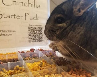 Healthy Chinchilla Treats Starter Pack