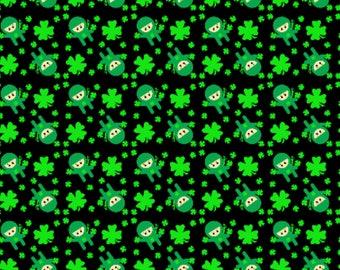 LUCKY NINJAS - PREORDER St. Patrick's Day Clover - reversible pet bandana - dog bandana - cat bandana - unique pet accessory