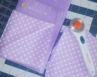 Baby Burp Cloth & Receiving Blanket Set