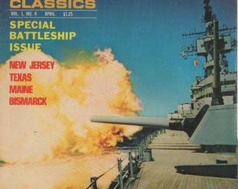 Summer Sale Sea Classics Magazine Vol. 1 No. 4 April 1969 Special Battleship Issue