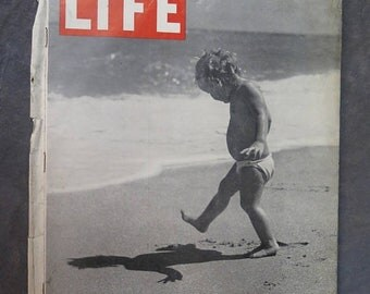Life Magazine July 30, 1945 Playing With Shadows, America and Russia, Presidental Cap, The Postwar Jeep,Starving in Minnesota