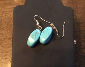 Jade stone eaarings
