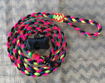 Custom paracord dog leash.  You choose color and length!!