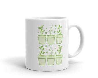 Six potted plants Mug