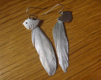 Bird and Golden feather earrings: spring is here!