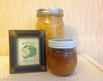 Counted cross-stitch Apple Jelly