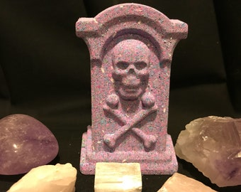 Skull Tombstone Bath Bomb | Tombstone Bath Bomb | Skull Bath Bomb | Unique Bath Bomb | Gifts for Her | Surprise Gifts | Something Small