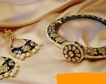 Indian Jewelry, Indian Hasli set, Sonam Hasli, Pakistani Jewelry, Asian Jewelry, Kundan Jewelry, Indian Bridal Jewelry