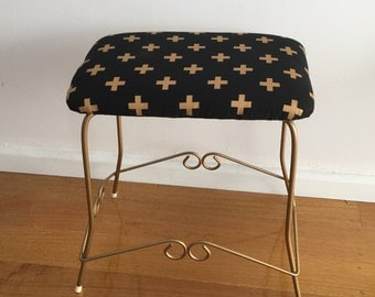 Vintage retro vanity stool