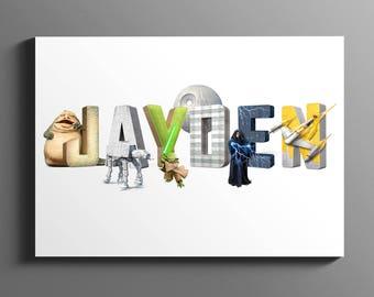 Star Wars Name Art / Personalized Name Print / Star Wars Baby / Baby Name Print / Nursery Name Sign / Star Wars Gift / DIGITAL DOWNLOAD