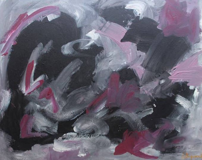Anger 44x35cm Original Abstract Painting