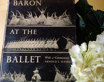 BARON AT THE Ballet Book 1950, first edition large book of ballet stars photographs, 224 page book of ballet, perfect gift for dance lover