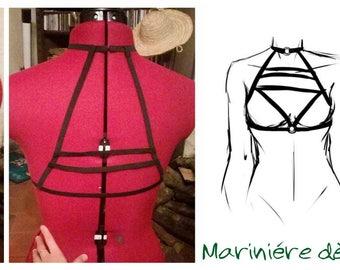 Harness bra - sailor neckline