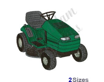 Riding Lawn mower - Machine Embroidery Design