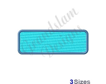 Rounded Rectangle (Light Fill) - Machine Embroidery Design