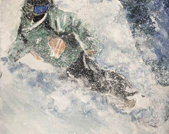 Snowboarder Print - Japow