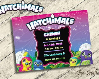 hatchimals invitation,hatchimals birthday,hatchimals party,hatchimals birthday party,hatchimals printable,hatchimals invites,hatchimals
