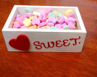Candy Box, Valentine Gift Box, Trinket Box, Photo Holder, Keepsake Box, Wedding Favors, Anniversary Gift Box