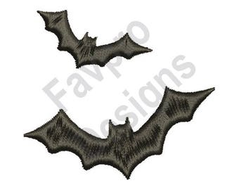 Flying Bats - Machine Embroidery Design
