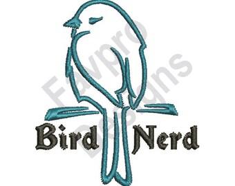 Bird Nerd - Machine Embroidery Design