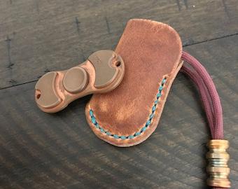 Torqbar Slip Sheath - Horween Leather English Tan Dublin - fidget spinner sheath - Torqbar Case