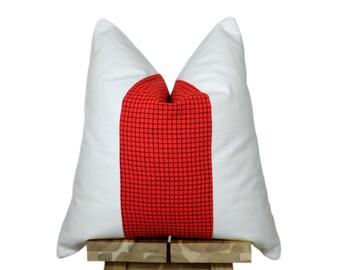 Kenyan Maasai Cloth and Linen Pillow Cover