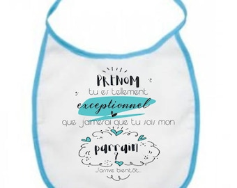 baby bib personalized for Godfather original application