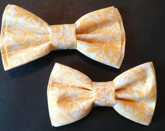 Bow Tie,Dad and Son Bow Ties, Yellow Bow Tie, Father Son Bow Ties, Mens Bow Tie, Groomsmen Bow Tie, Ring Bearer Bow Tie, Boys Bow Tie  DS689