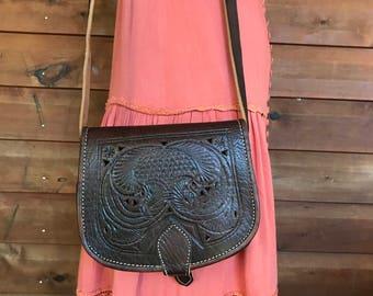 Moroccan Cut Leather Handbag... Free Shipping
