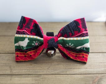 Christmas bowtie | Etsy