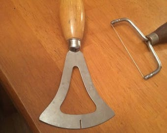 A & J Vintage Dough Cutter with Wood Handle