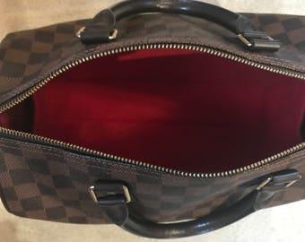 SPEEDY 35 LINER Bag Insert Organiser Felt in Rioja Red by Handbag Angels Made in England