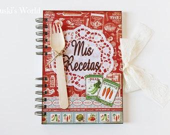Cookbook, vintage, recipe book, Recipes, Cookbook, fork