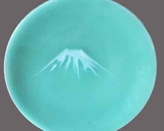 Nabeshima Celadon Hand painted Japanese Decorative Plate 19th Century
