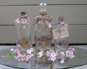 French Style Decorated Glass Bottles