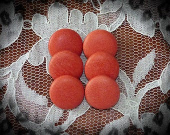 USE 6 color STYLE red leather buttons 22 mm