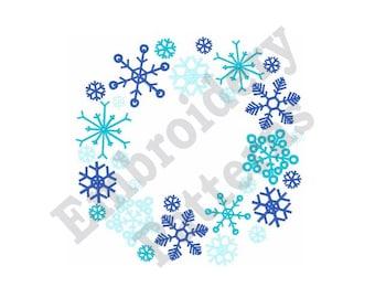 Snowflake Circle - Machine Embroidery Design