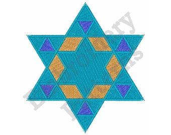 Star Of David - Machine Embroidery Design
