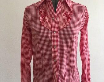 Rockabilly western blouse