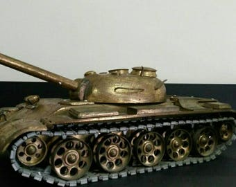 Big Soviet tank made of brass
